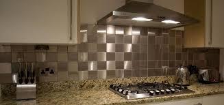 Kitchen Interior Modern Kitchen Decoration Featuring Stainless - Stainless tile backsplash