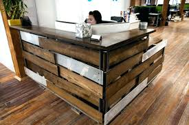 reclaimed wood desk for sale reclaimed wood reception desk reclaimed barn wood desk barn wood