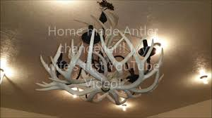 How To Build Antler Chandelier Home Made Beautiful Antler Chandelier Wife U0027s First Video Youtube