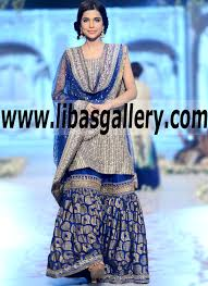 blue wedding dress designer azwer bridal wear bridal dresses designer bridal dress