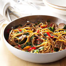 beef u0026 spinach lo mein recipe taste of home