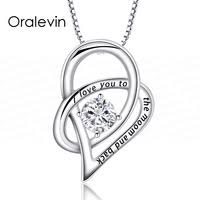 I Love You To The Moon And Back Personalized Necklace Oralevin Official Store Small Orders Online Store Selling