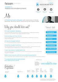 Experienced Graphic Designer Resume Graphic Designer Cv Faizan Ur Rehman