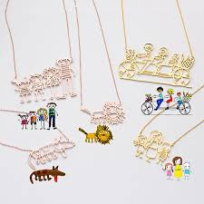 necklace art images Actual kids drawing necklace children artwork necklace kid jpg