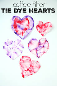 coffee filter tie dye hearts my mommy style
