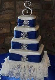 vintage royal blue wedding cake krmc bakery pinterest royal