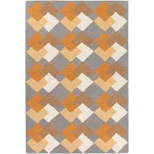 Grey And Orange Area Rug 2 X 3 And Smaller Orange Area Rugs Rugs The Home Depot