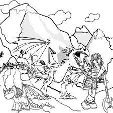 chibi toothless eat fish train dragon coloring