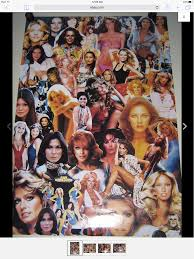 motocrossed cast pro arts collage poster farrah fawcett jaclyn smith kate