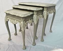 White Painted Furniture Shabby Chic by French Style Shabby Chic Nest Of Tables No 22 Hometalk