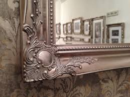 Bevelled Mirror Antique Silver Elegant Wall Mirror Free Uk Postage Bevelled Mirror