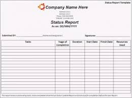 Project Daily Status Report Template Excel by Status Report Template Free Formats Excel Word