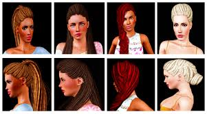 sims 3 hair custom content ethnic hairs list for the sims 3 over 112 hairs lipstick alley