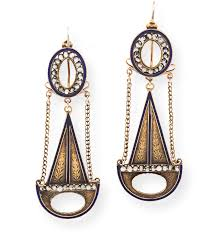 swag earrings 18th century enamel swag earrings wanton