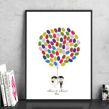 hochzeitsgeschenk braut braut und bräutigam nehmen die luftballons leinwanddruck malerei