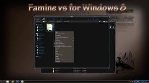 black themes windows 8 famine visual style theme for windows8