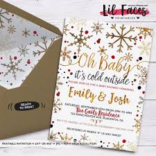 couples baby shower invitations it s cold outside baby shower invitation winter gender