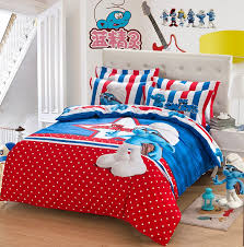 Polka Dot Comforter Queen Blue Red Polka Dot The Smurfs Queen Bedding Sets Kids Bedding Sets