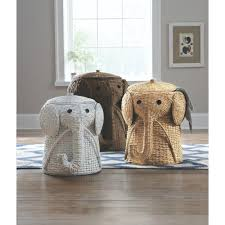 Wicker Clothes Hamper With Lid Home Decorators Collection Animal 20 5 In W Grey Laundry Hamper