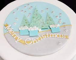 Decorating A Christmas Cake South Africa by Christmas Cake Decoration Etsy