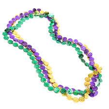 mardi gras beaded necklaces mardi gras coin bead necklaces ebay