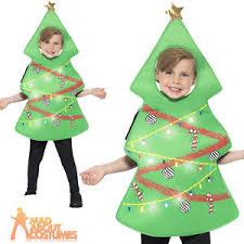 kids light up christmas tree costume child xmas fancy dress