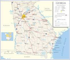 Blank Map United States Printable by Reference Map Of Georgia State Usa Nations Online Project