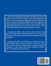 ma cuisine escoffier amazon fr ma cuisine edition 1 de 2 auguste escoffier l
