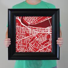 Boston University Campus Map by Boston University Campus Map Art City Prints