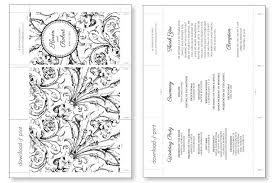 printable wedding programs accordian fold diy wedding program