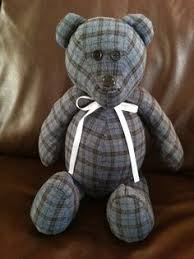 remembrance teddy bears memory using a loved ones clothing https www etsy