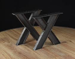 Wood Table Base by Table Base Etsy