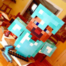 Steve Minecraft Halloween Costume Diyminecraftcostume 9 Steps Pictures