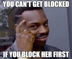 Blocked Meme - roll safe imgflip