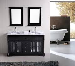 bathroom espresso black white double sinks bathroom vanities