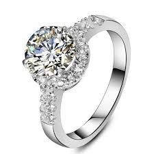 aliexpress buy 2ct brilliant simulate diamond men promotion jewelry wholesale excellent halo 2ct sona marriage