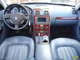 maserati quattro interior 2005 argento luna light blue maserati quattroporte 18173756