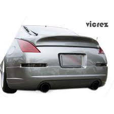 nissan 350z rear spoiler nissan 350z 2003 2008 ing style 1 piece polyurethane rear lip