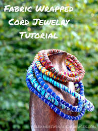 cord necklace making images How to make a fabric wrapped cord necklace or bracelet feltmagnet jpg