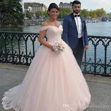 Light Pink Dress Plus Size Discount Elegant Light Pink Wedding Dresses Cheap Off Shoulder