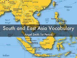 Southern And Eastern Asia Map by South And East Asia Vocabulary By Angelica Smith24