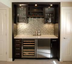 Glass Bar Cabinet Furniture Contemporary Basement Bar Cabinets Marble Countertop