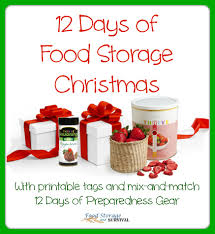days of christmas featuring food storage gifts printable tags