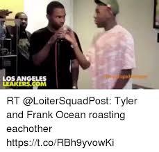 Frank Ocean Meme - los angeles rt tyler and frank ocean roasting eachother
