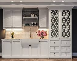glass insert ideas for kitchen cabinets kitchen cabinet glass insert etsy