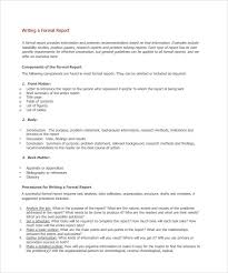 formal report format template hitecauto us