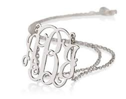 silver monogram necklace sterling silver monogram necklace christmas gifts