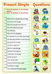 english worksheet present simple question formation 1 5