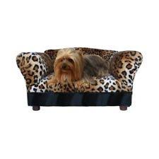 Leopard Chaise Lounge Small Dog Bed Sofa Furniture Couch Leather Pet Cat Chaise Lounge