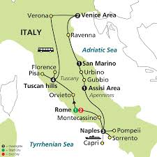 San Marino Italy Map by Cosmos Tours Jewels Of Italy 2015